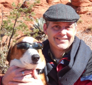 Roger & Murphy in early 2014, hiking in Sedona.  I'm the one with the hat.